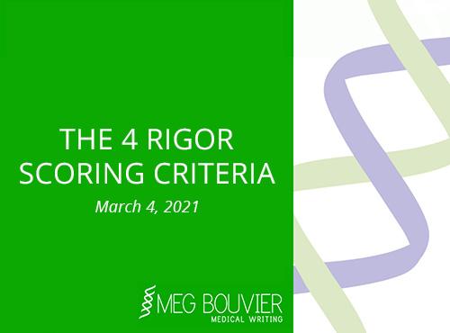 The 4 Rigor Scoring Criteria